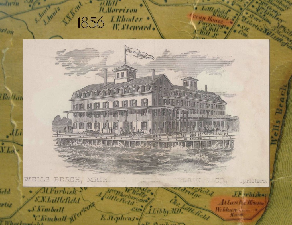 Atlantic House and 1856 map