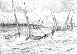 The fateful December gale of 1850